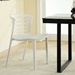 Contour White Contemporary Dining Chair