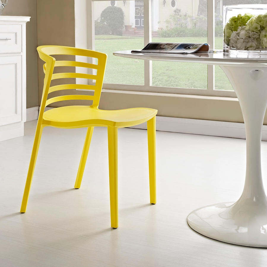 contour modern yellow dining chair  eurway furniture -  contour contemporary yellow dining chair