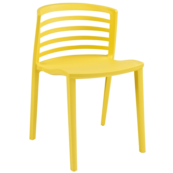 Contour Yellow Modern Dining Chair
