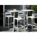 Divo-B Linen Modern Outdoor Bar Stool - Patio