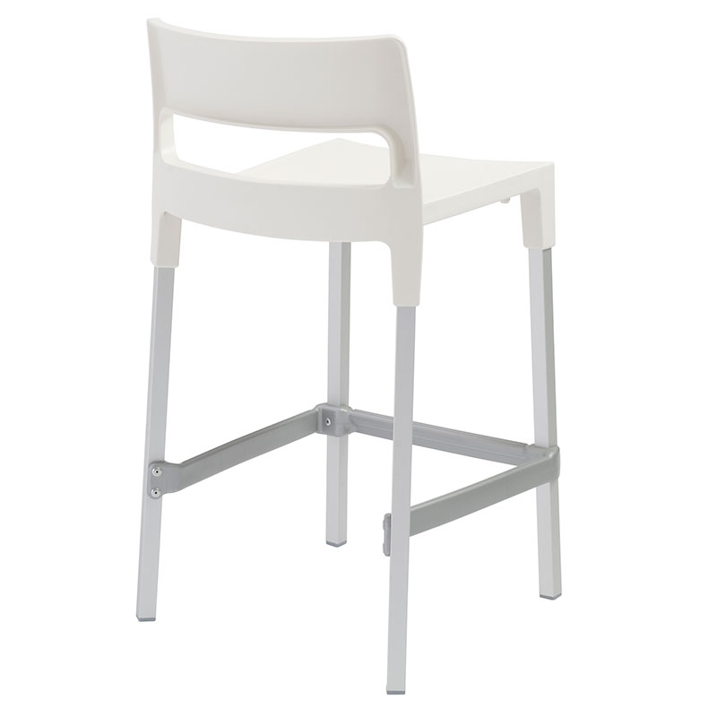 ... Divo-C Modern Outdoor Counter Stool in Linen - Back View  sc 1 st  Eurway & Divo-C Linen Modern Outdoor Counter Stool | Eurway islam-shia.org