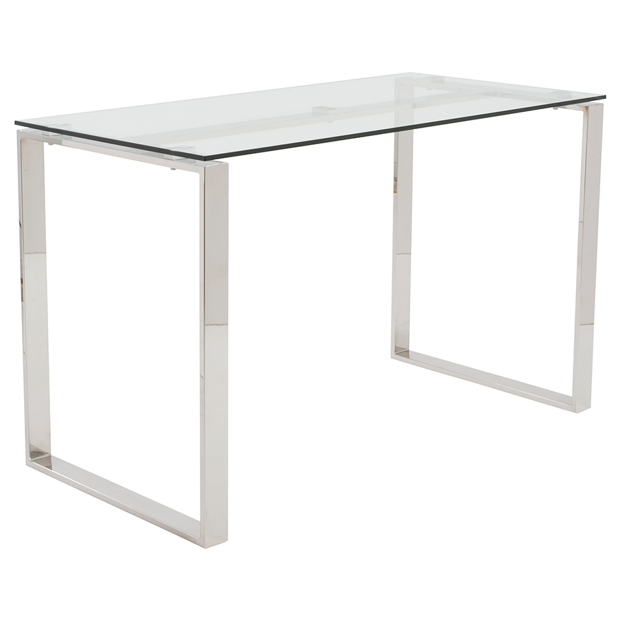 Call To Order Dir Modern Chrome Glass Desk