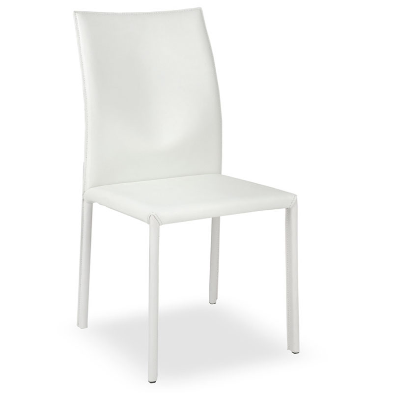 Emily Modern Dining Chair in White