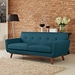 Empire Azure Contemporary Loveseat