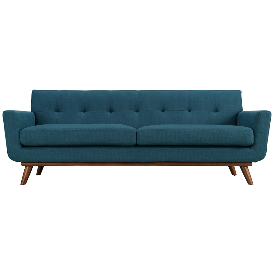 Empire Azure Modern Sofa - Front View