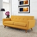 Empire Citrus Contemporary Loveseat