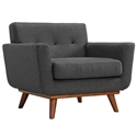 Empire Dark Gray Modern Lounge Chair