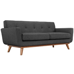 Empire Dark Gray Modern Loveseat