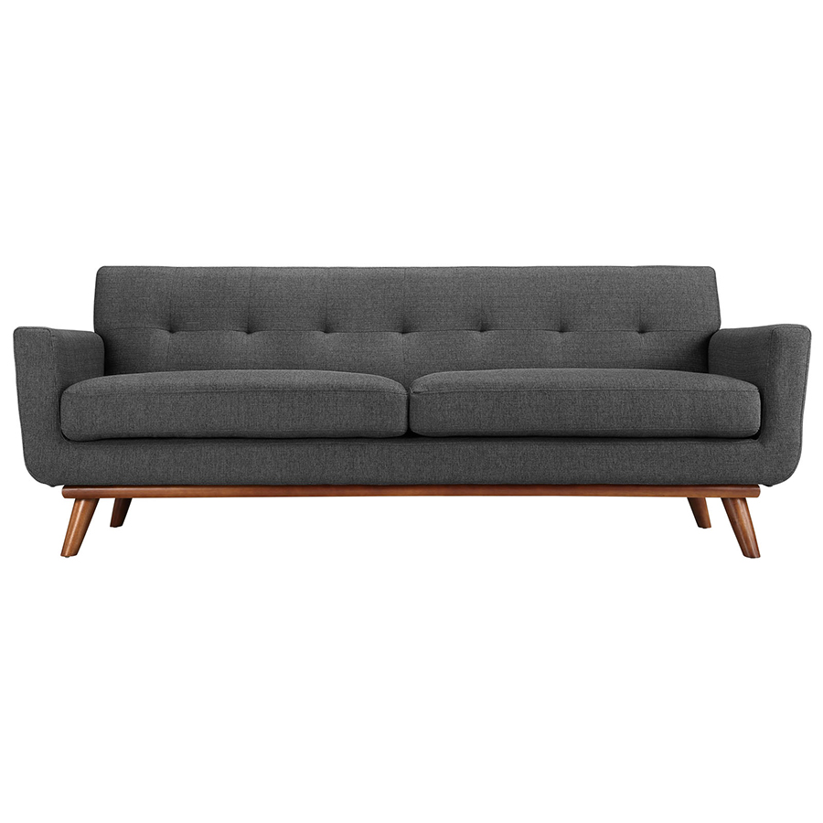 Modern sofas empire dark gray sofa eurway furniture for Modern sofa chair