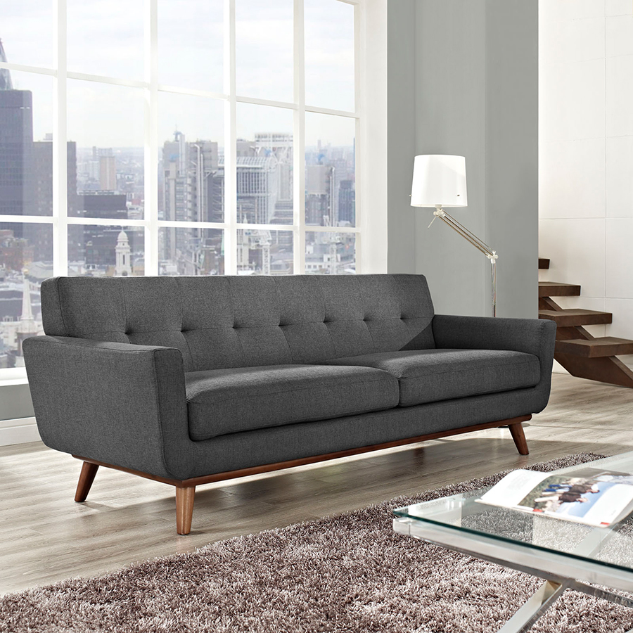 Awesome ... Empire Dark Gray Contemporary Sofa