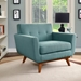 Empire Light Blue Contemporary Lounge Chair