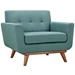 Empire Light Blue Modern Lounge Chair