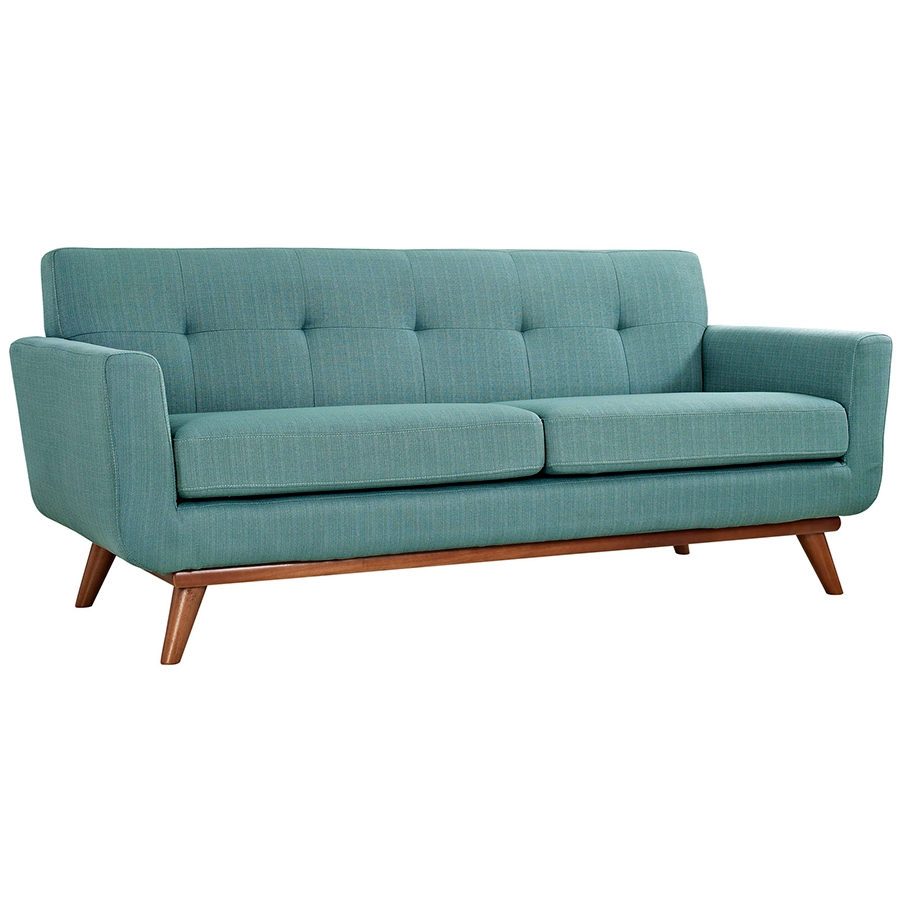 Empire Light Blue Modern Loveseat