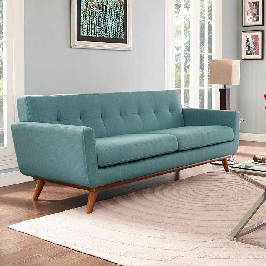 ... Empire Light Blue Contemporary Sofa