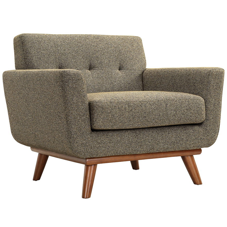 Empire Oatmeal Modern Lounge Chair