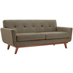 Empire Oatmeal Modern Loveseat