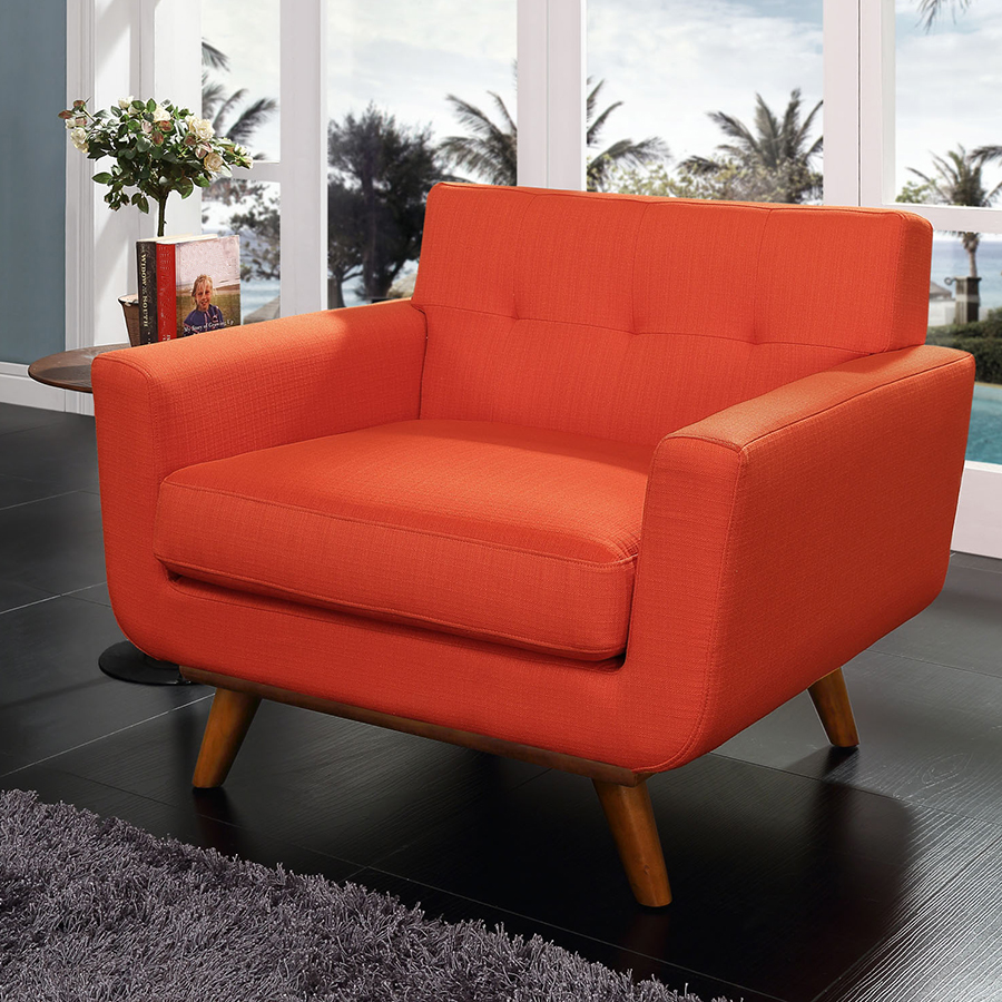 Red modern chairs -  Empire Red Contemporary Lounge Chair