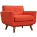 Empire Red Modern Lounge Chair
