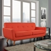 Empire Red Contemporary Loveseat