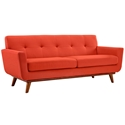 Empire Red Modern Loveseat
