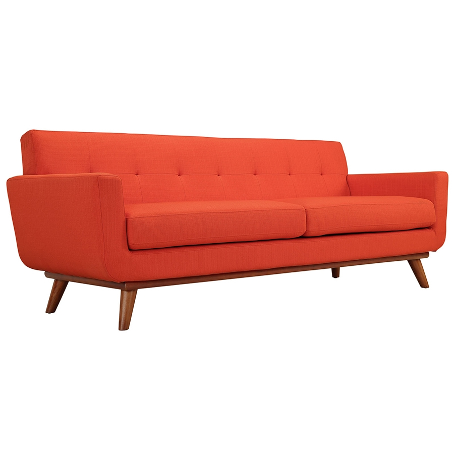 Charmant Call To Order · Empire Red Modern Sofa