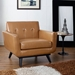 Empire Tan Bonded Leather Modern Chair