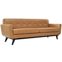 Empire Tan Leather Modern Sofa