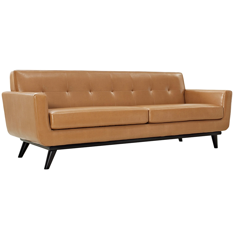 Call To Order · Empire Tan Leather Modern Sofa