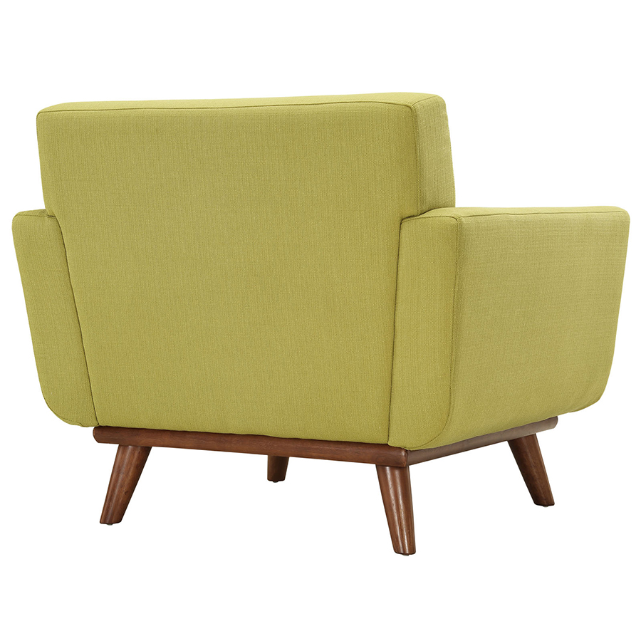Empire Wheatgrass Modern Lounge Chair - Back View