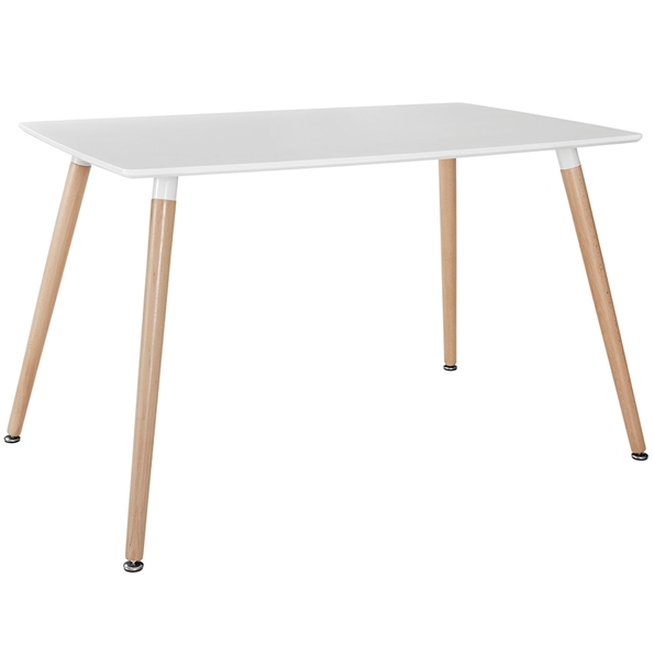 Fleetwood White Modern Dining Table
