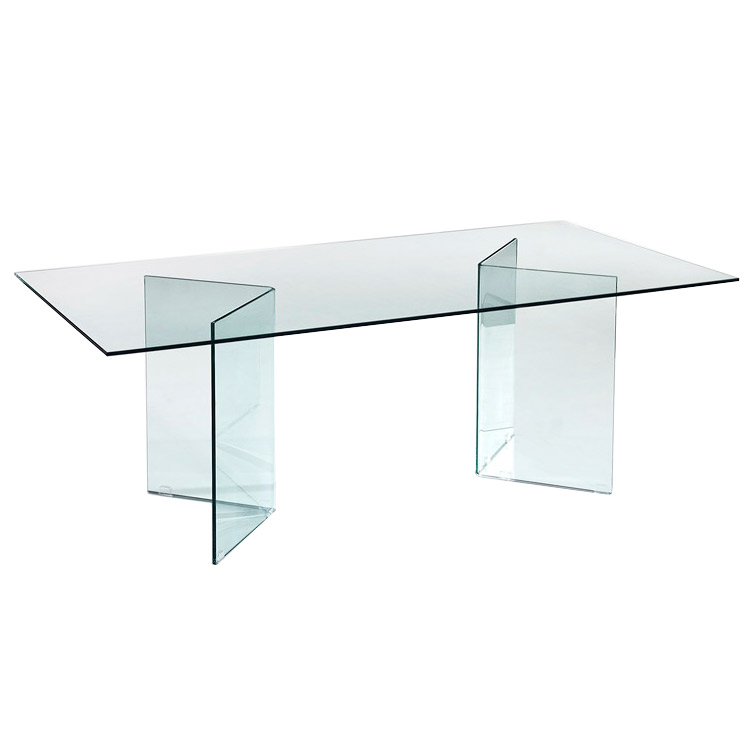 Forum 71 Inch Modern Glass Dining Table
