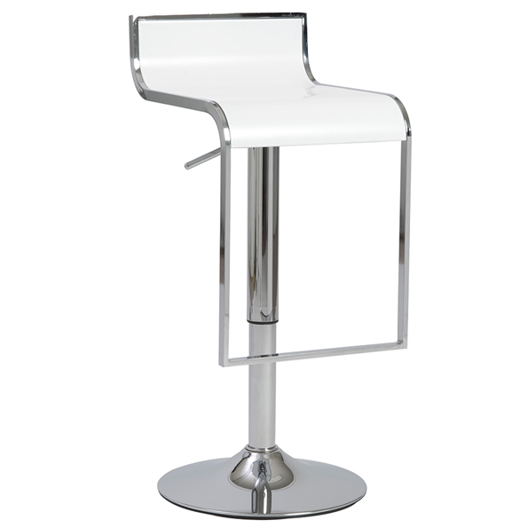 Foya Modern Adjustable Stool in White