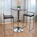 Finland Contemporary Stacking Bar Stool Stainless + Black