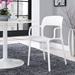 Halen Contemporary White Dining Armchair