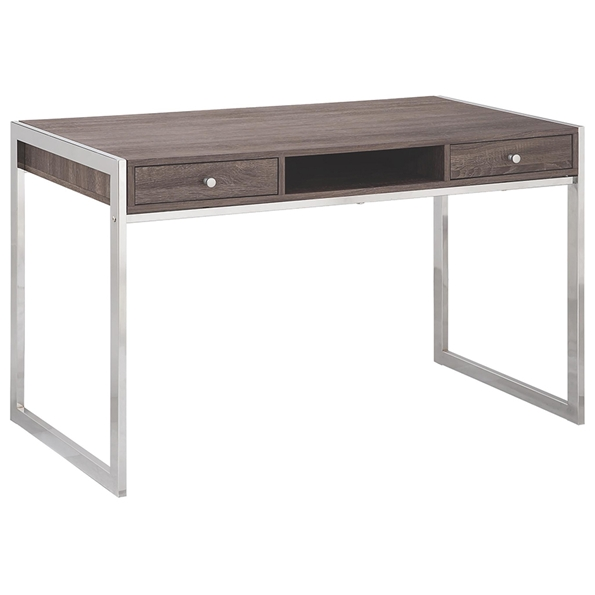 Halstead Contemporary Weathered Grey Desk