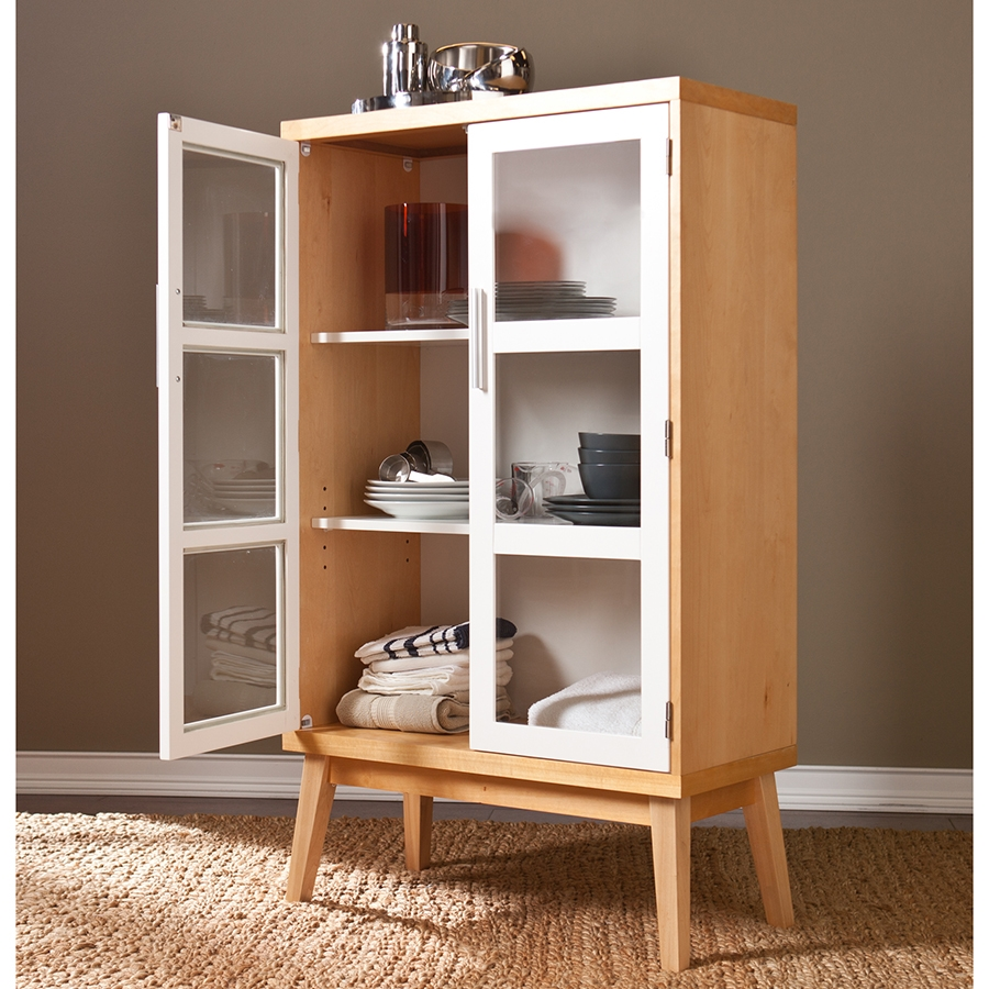 ... Hardin Contemporary Tall Storage Cabinet ...