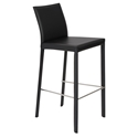 Hasina-B black modern bar stool