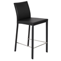 heather black modern counter stool