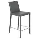 heather gray modern counter stool
