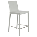 heather white modern counter stool