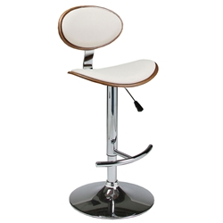 Jameson Modern Adjustable Bar Stool in Ivory