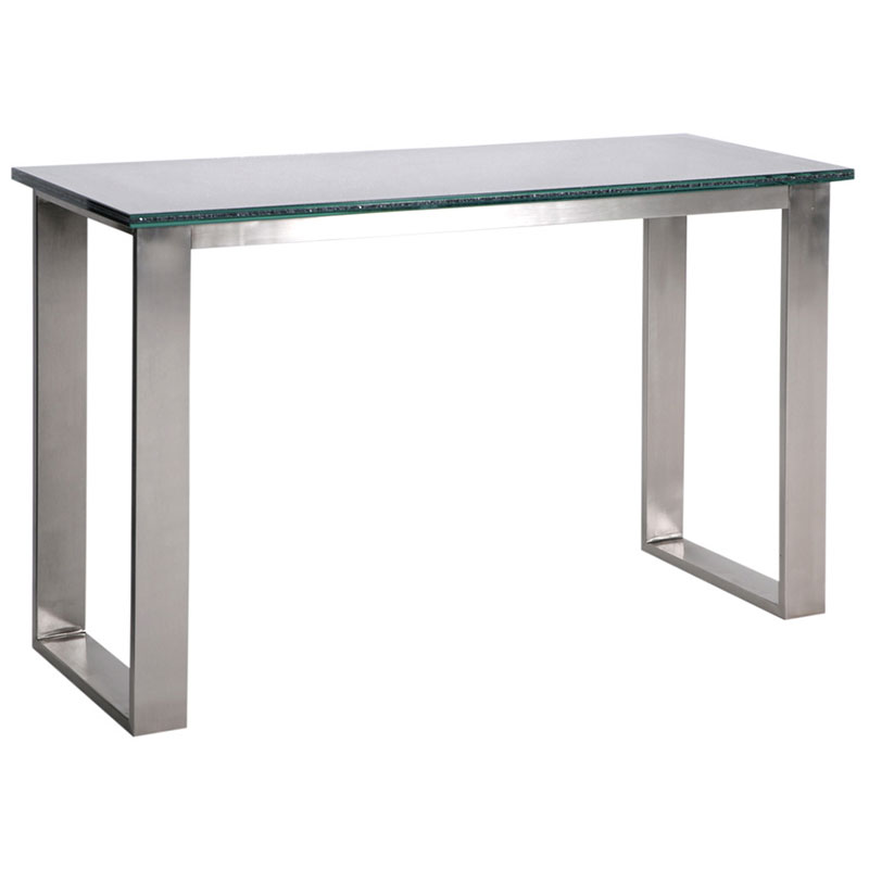 jeffrey smoked crackled glass console table - Modern Console Tables