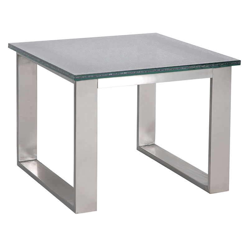 Bon Call To Order · Jeffrey Smoked Crackled Glass End Table