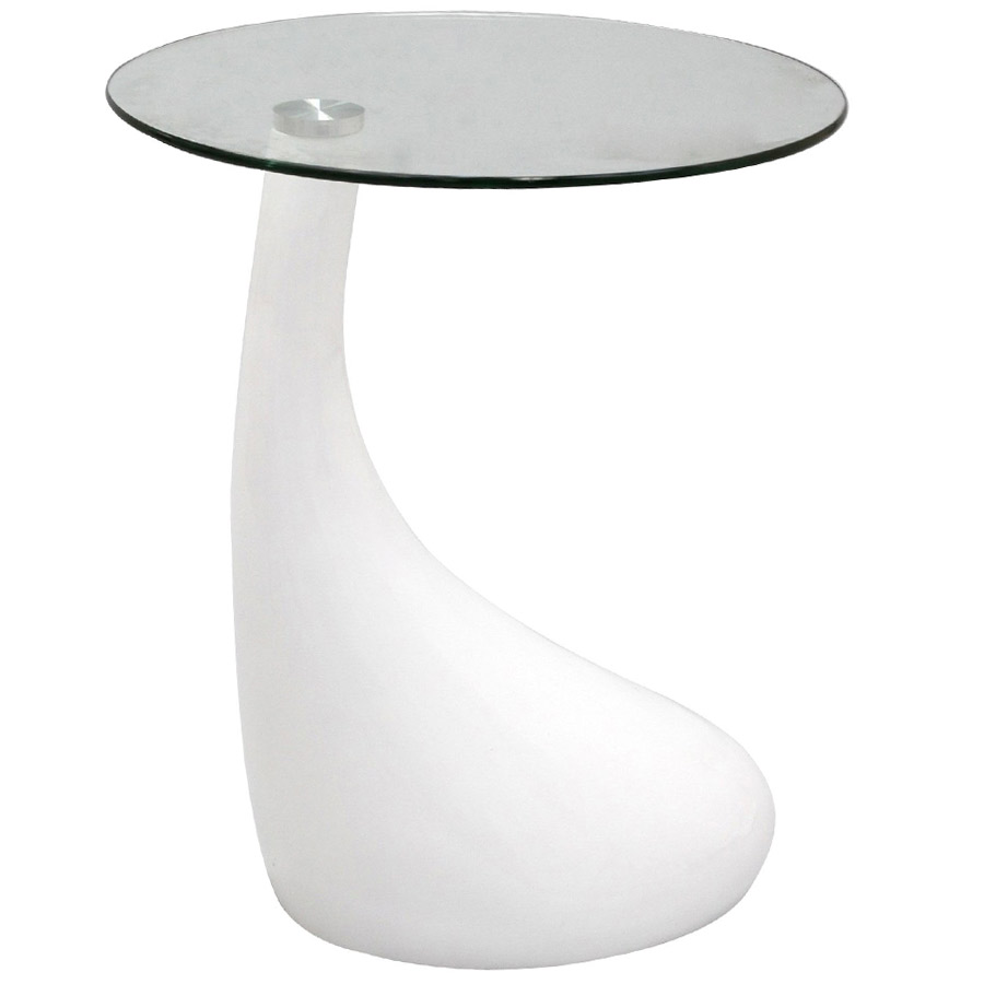 Juliet White Modern Side Table