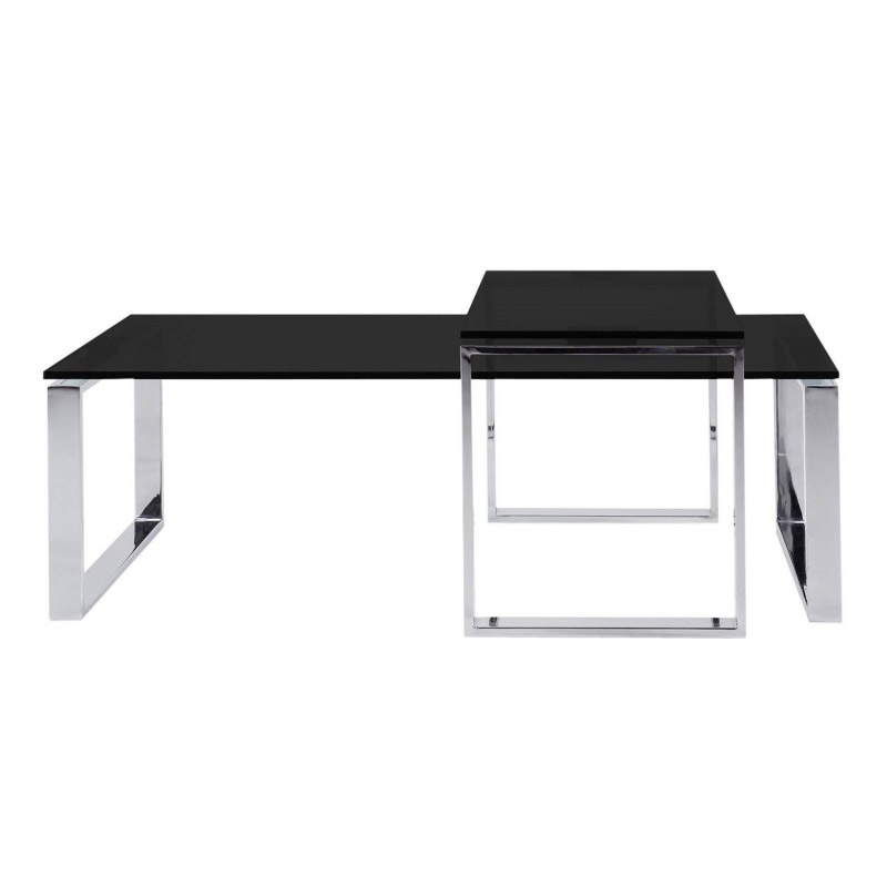 kat modern black cocktail table and end table set