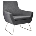 Kimmel Modern Lounge Chair in Charcoal