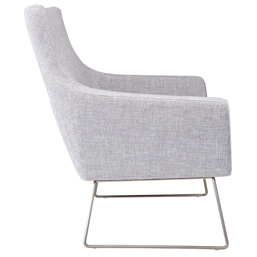 ... Kimmel Modern Lounge Chair In Light Grey   Side View ...