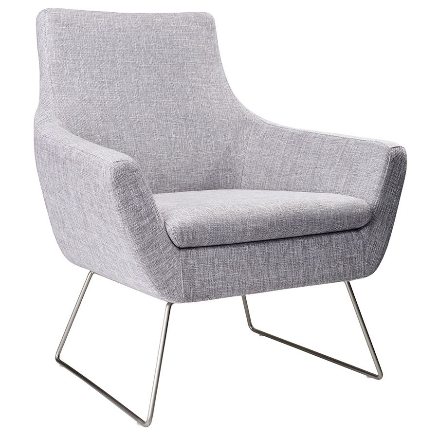 Modern lounge chairs kimmel light grey chair eurway for Modern lounge furniture