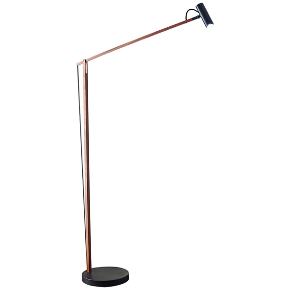 Kraan Modern Walnut LED Floor Lamp