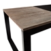 Landis Modern Black Cocktail Table - Wood Section